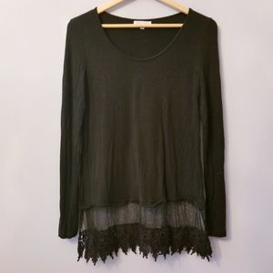 Tops - Silky Jersey feel top with bottom lace S